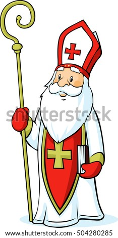 Saint Nicholas isolated on white background - vector illustration
