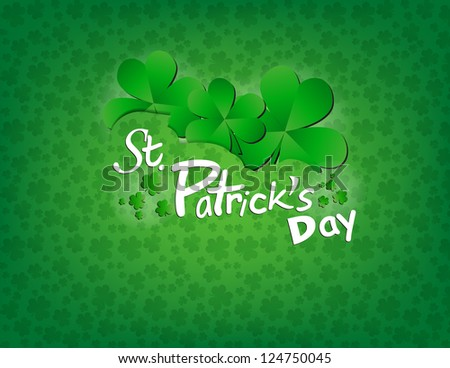 Saint Patrick's Day Background - stock vector