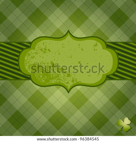 Saint Patrick's day card - stock vector