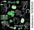 Saint Patrick's Day doodles - stock vector