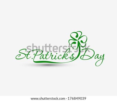 Saint Patrick's Day Typographical Design. - stock vector