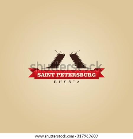 Saint Petersburg Russia city symbol vector illustration - stock vector