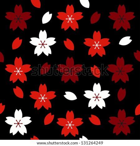 Sakura vector seamless pattern. - stock vector