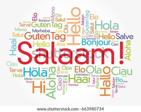 Salaam hello greeting persian farsi word cloud stock vector salaam hello greeting in persianfarsi word cloud in different languages of the m4hsunfo