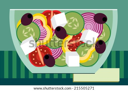 salad - stock vector