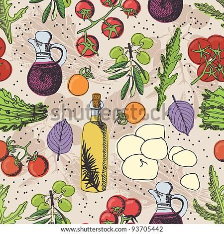 Salad background - stock vector