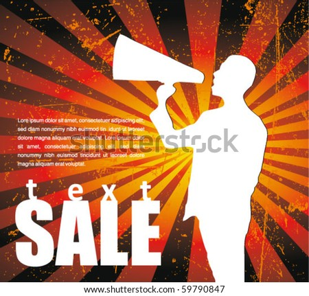 sale announcement sign - stock vector
