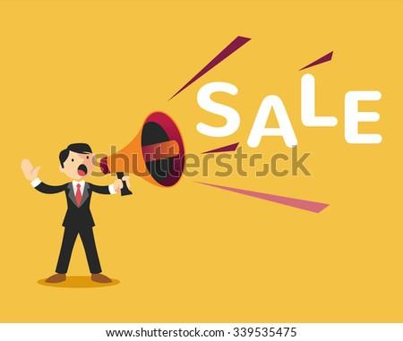Sale announcement. Vector flat illustration - stock vector