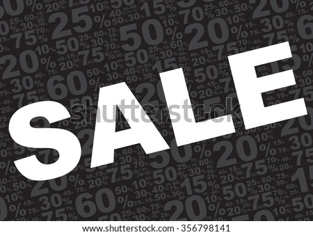 Sale Background - Sale Sign With Various Percentage Symbols on Black Background