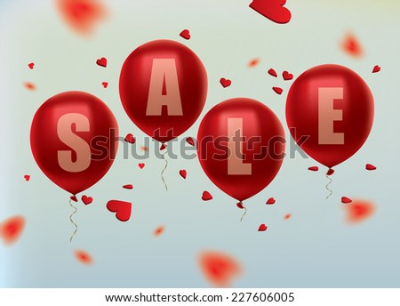 Sale Balloons. Vector illustration.