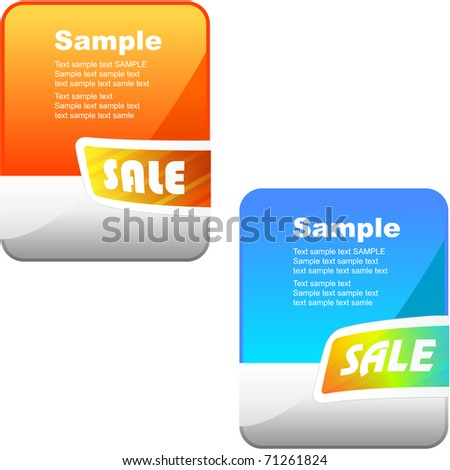 Sale banner collection. Set of vector elements for sale. - stock vector