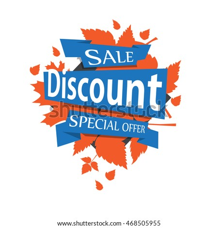 Sale banner design. Big set of beautiful blue discount and promotion banners.