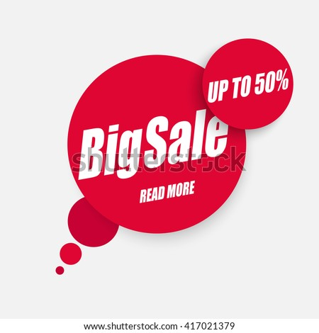 Sale banner, sale background. Big sale. Sale tag, sale poster. Super Sale and special offer. 50% off. - stock vector
