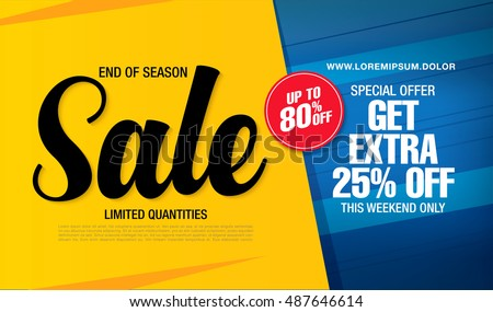 Sale banner template design stock vector 487646614 for Designer flash sale sites