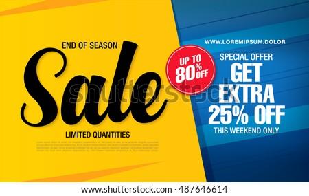 Sale banner template design stock vector 487646614 for Designer flash sale sites