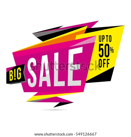 Sale banner template design poster sign sticker big sale discounts