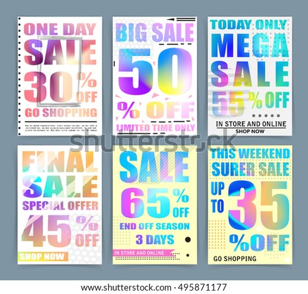 Sale Banner Templates Website And Mobile Banners Posters Email Newsletter Designs