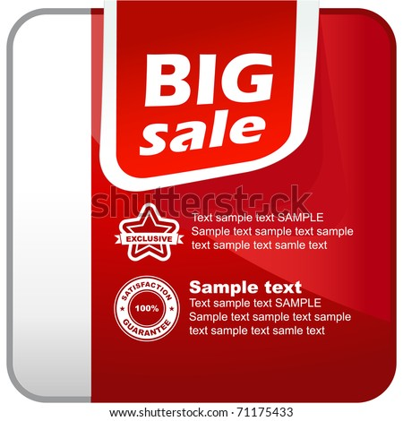 Sale banner. Vector element for sale. - stock vector