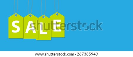 Sale Banner with Place for Your Text. Vector Illustration EPS10 - stock vector