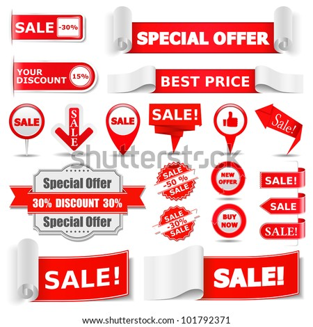 Sale Banners, vector eps10 illustration - stock vector