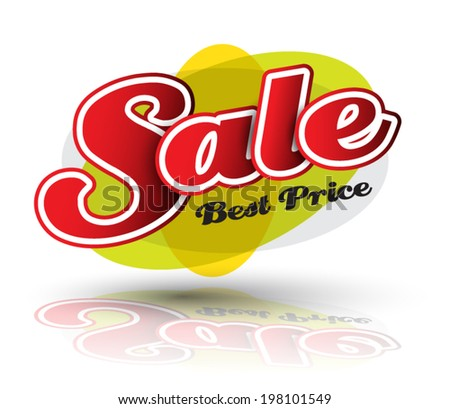 Sale best price text vector for promotion. - stock vector