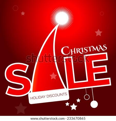 sale christmas - stock vector