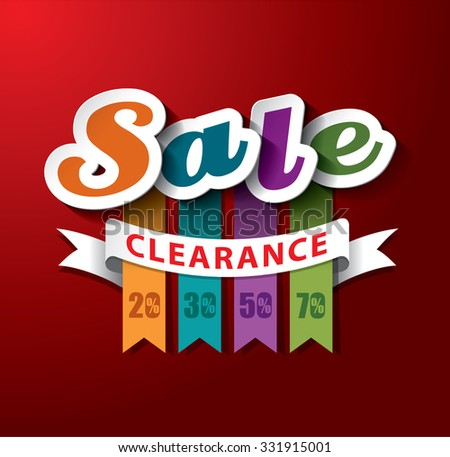 SALE Clearance Vector Design - stock vector