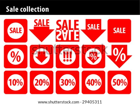 Sale collection - stock vector