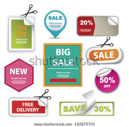 Sale  coupons - stock vector