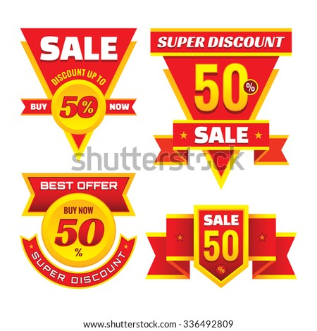 Sale - creative vector badges set. Special discount vector badges collection. Super offer concept stickers. Design elements. Sale layout. Sale background. Sale poster. Discount layout. Sale flyer.  - stock vector