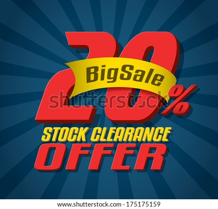 Sale 3d text - stock vector