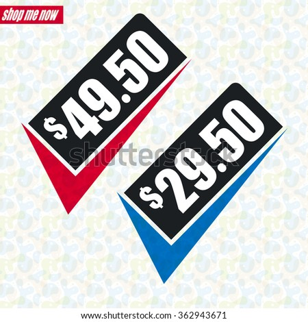 Sale design - Price tag with tick - stock vector