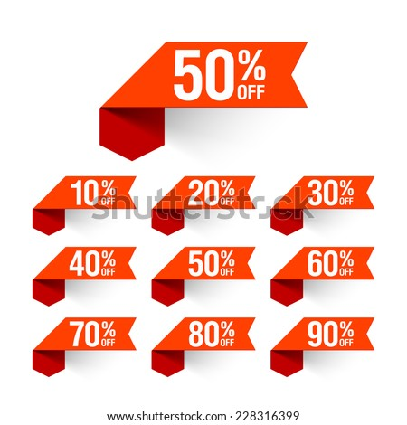 Sale, discount labels. Vector. - stock vector