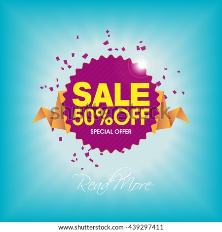 Sale, Fifty Percent Off, Special Offer - Banner and Poster Design