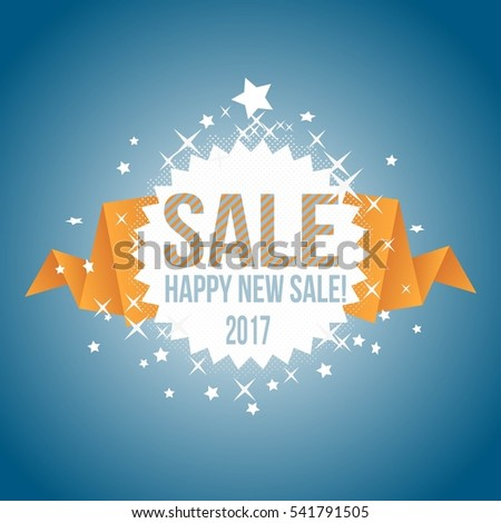 Sale, Happy New Sale! 2017 - Banner and Poster Design