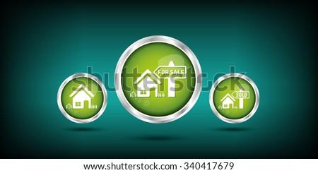 sale house icon - stock vector