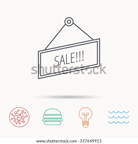 Sale icon. Advertising banner tag sign.  - stock vector