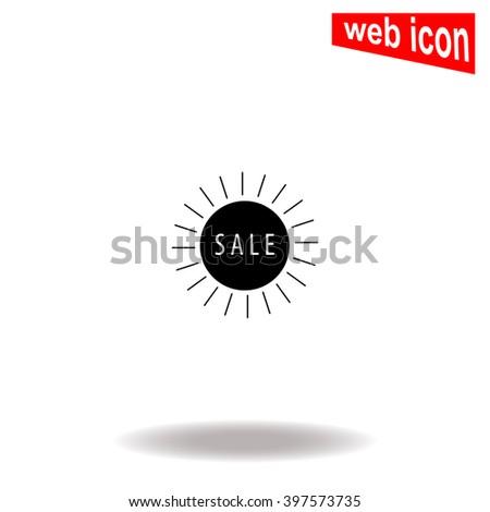 Sale icon. Sale icon vector. Sale icon illustration. Sale icon web. Sale icon Eps10. Sale icon image. Sale icon logo. Sale icon sign. Sale icon art. Sale icon flat. Sale icon design. Sale icon app. - stock vector