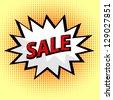Sale label in pop art style - stock vector