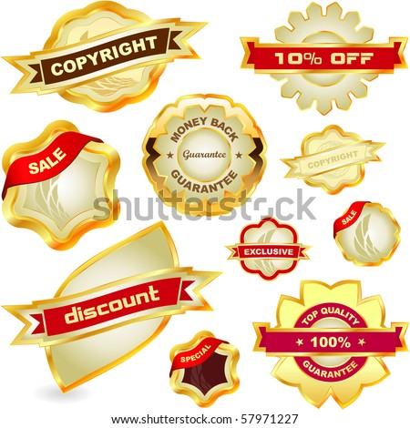 Sale label set. Great collection. - stock vector