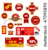 sale labels and banners - vector set - stock vector