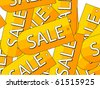 Sale labels background - stock vector