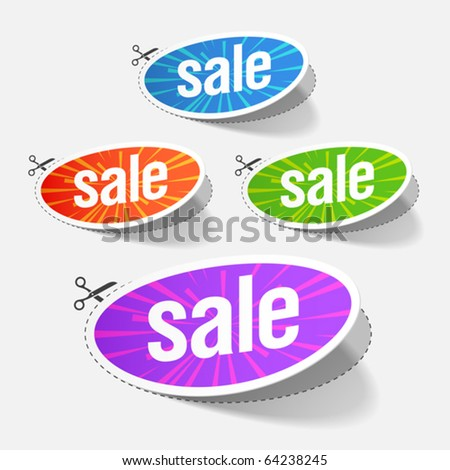 Sale labels. Vector. - stock vector
