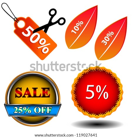 Sale logo set on a white background - stock vector
