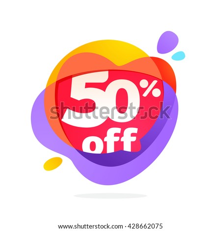 Sale logo with speech bubble and hearts. Vector typeface for communication app icon, corporate identity, card, labels or posters. - stock vector