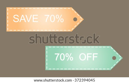 Sale 70% off  on grey background