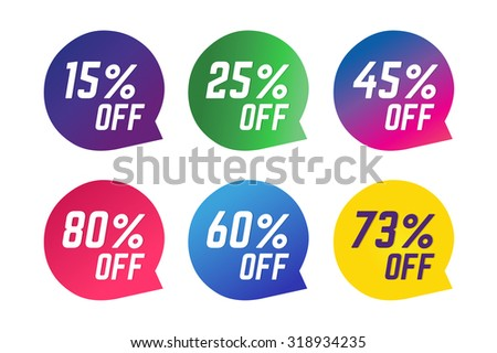 Sale, Off vector tags. Sale vector and Sale label icons. Shop discount sale. Free offer, promotion, promo, market. Sale vector sign. Sale vector icons silhouette. Sale banner, sticker, label, circle - stock vector