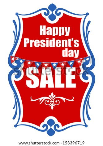 Sale on Presidents Day Vector Banner Illustration - stock vector