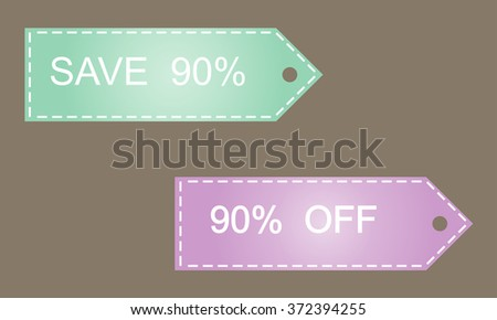Sale 90percent  off vector image  tag