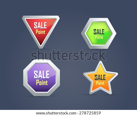 Sale Point Button/Icon Multicolored